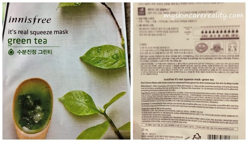 It;s real squeeze mask - Green Tea