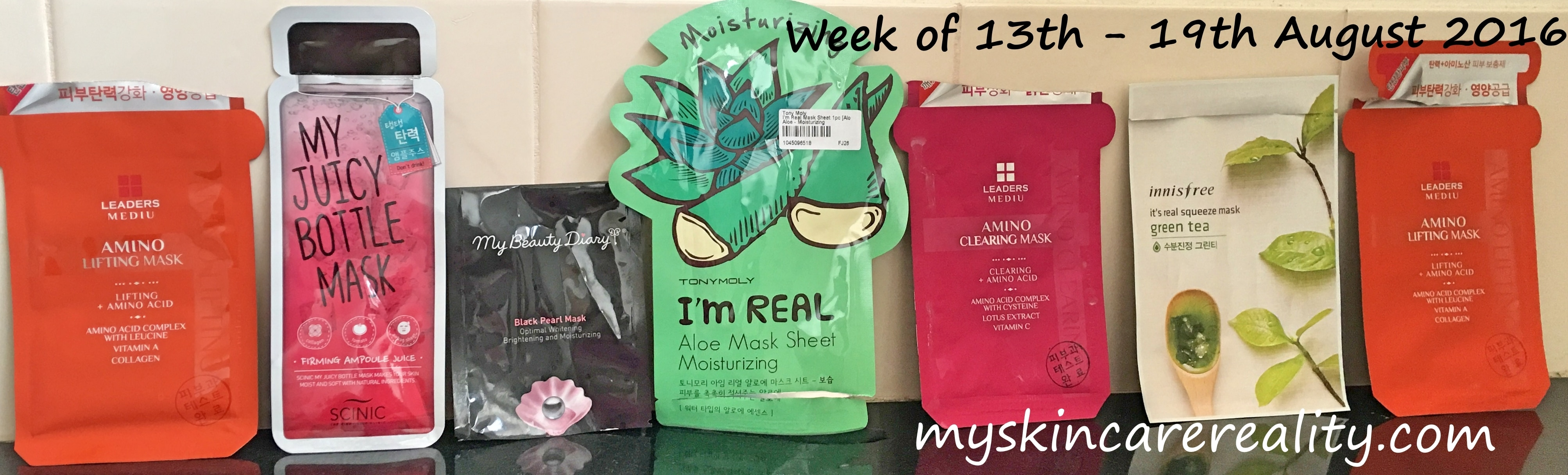 Daily Sheet Mask | Skincare Review |13th – 19th August 2016 | My Skincare Reality