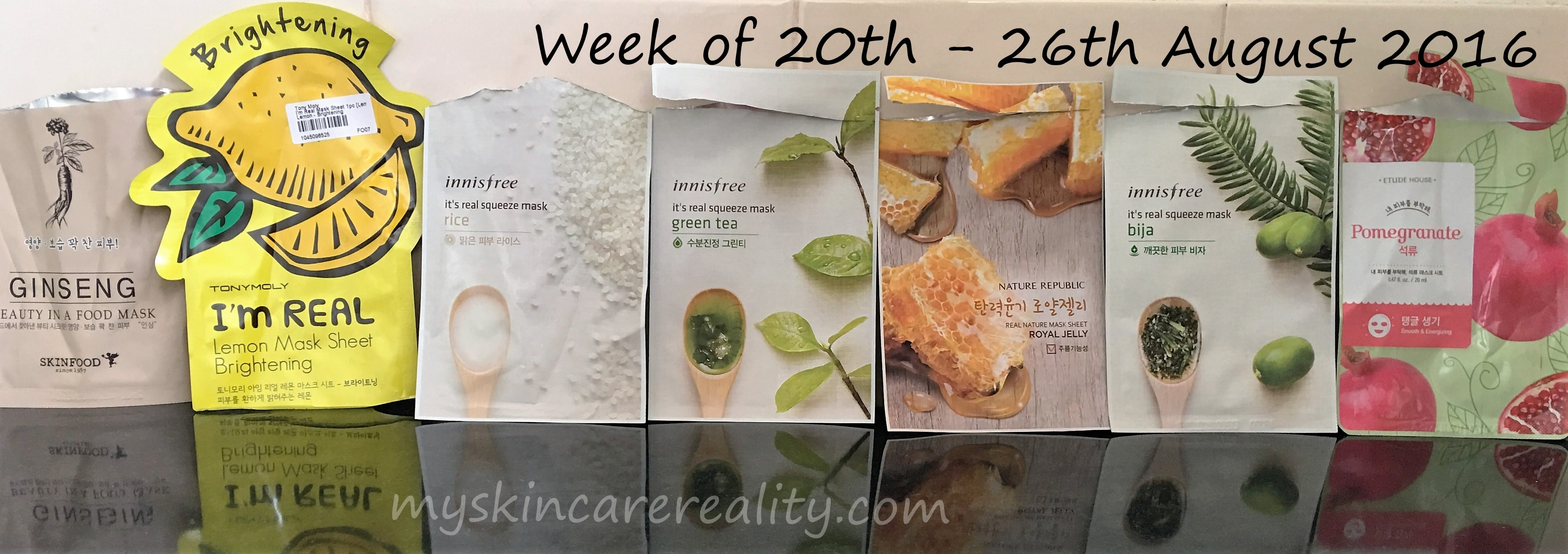 7 Days of Sheet Mask Reviews | 20th – 26th August 2016 | My Skincare Reality