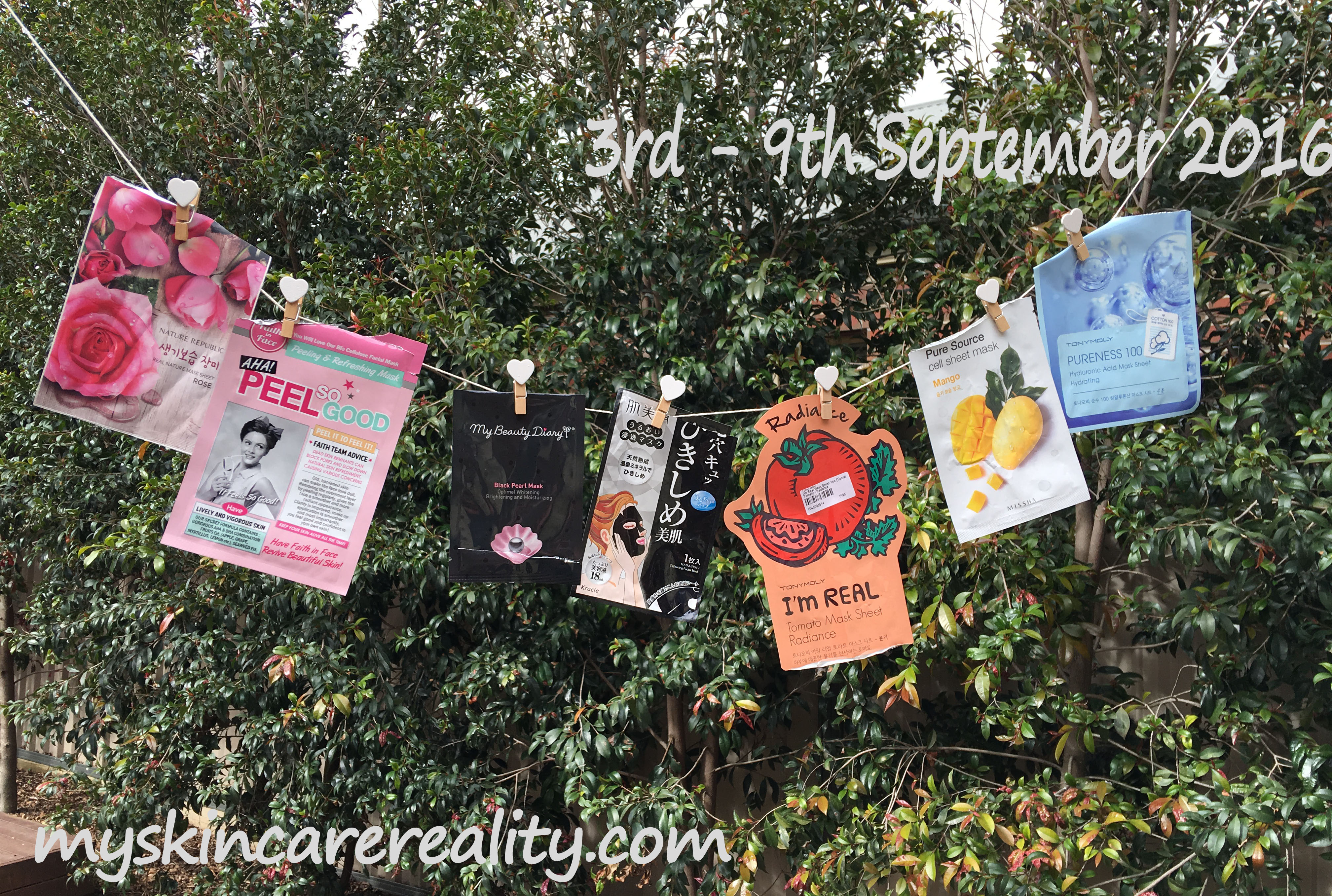 Daily Sheet Masks Review |3rd – 9th September 2016 | My Skincare Reality